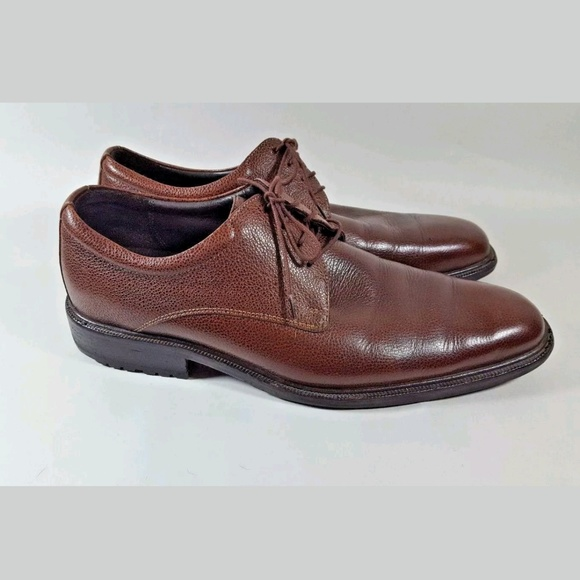 Cole Haan Other - Cole Haan oxfords brown pebbled mens 9.5